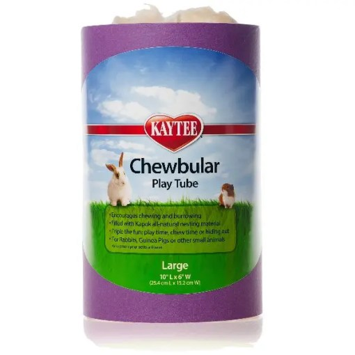 Kaytee Chewbular Small Pet Play Tube, Large, Assorted Colors.
