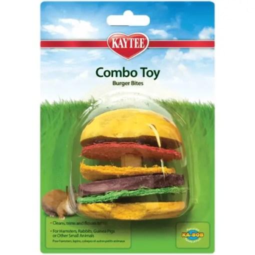 Kaytee Combo Chews Crispy & Wood Hamburger Toy.