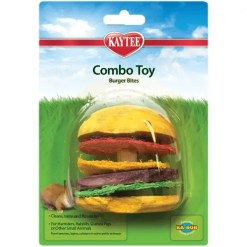 Kaytee Combo Chews Crispy & Wood Hamburger Toy.
