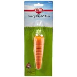 Kaytee Bunny Flip-N-Toss Carrot Toy.