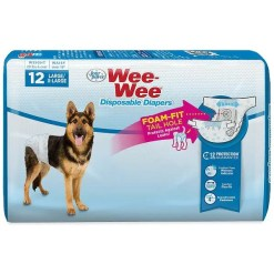 Wee-Wee Disposable Doggie Diapers, Large Extra Large, 12 Count. SKU 4566397233