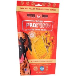 Boss Dog Propuffs Probiotic Infused Cheddar & Bacon Dog Treats, 6-oz.