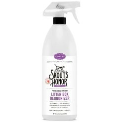 Skout's Honor Professional Strength Litter Box Deodorizer, 35-oz Bottle.