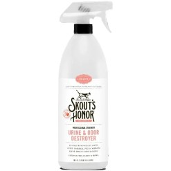 Skout's Honor Professional Strength Cat Urine & Odor Destroyer, 35-oz Bottle.