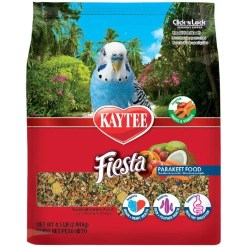 Kaytee Fiesta Parakeet Food, 4.5-lb Bag.