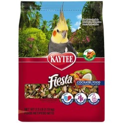 Kaytee Fiesta Cockatiel Food, 2.5-lb Bag.
