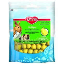 Kaytee Fiesta Banana Flavor Yogurt Dipped Treats for Small Animals, 3.5-oz Bag.
