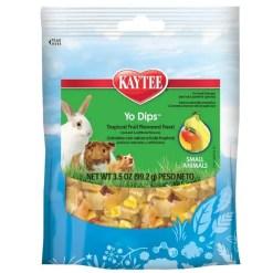 Kaytee Yo Dips Tropical Fruit and Yogurt Mix Small Animal Treats, 3.5-oz Bag.