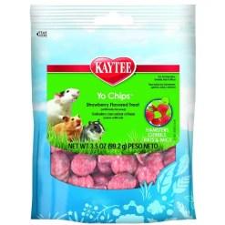 Kaytee Yo Chips Strawberry Flavored Yogurt Chips Small Animal Treats, 3.5-oz Bag.