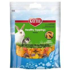 Kaytee Fiesta Healthy Toppings Papaya Small Animal Treats, 2.5-oz Bag.