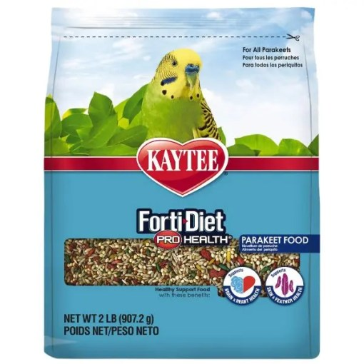 Kaytee Forti-Diet Pro Health Parakeet Food, 2-lb Bag.