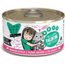 Weruva BFF Tuna & Pumpkin Valentine Dinner in Gravy Canned Cat Food, 3-oz, Case of 24.