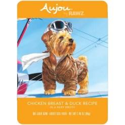 RAWZ Aujou Chicken Breast & Duck Wet Dog Food, 2.46-oz, Case of 8 Pouches.