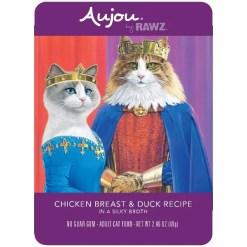 RAWZ Aujou Chicken Breast & Duck Wet Cat Food, 2.46-oz, Case of 8 Pouches.
