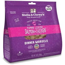 Stella & Chewy's Yummy Lickin' Salmon & Chicken Dinner Morsels Freeze-Dried Raw Cat Food, 8-oz.