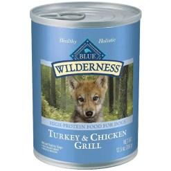 Blue Buffalo Wilderness Turkey & Chicken Grill Grain-Free Puppy Canned Dog Food, 12.5-oz SKU 4024310123