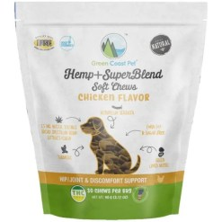 Green Coast Pet Chicken Flavor Hemp + SuperBlend Soft Chews for Dogs, 30 Count SKU 6912100041