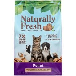 Naturally Fresh Pellet Unscented Non-Clumping Walnut Cat Litter, 26-lb SKU 5024423005