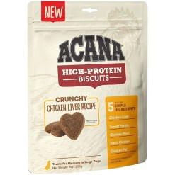 ACANA High-Protein Biscuits Crunchy Chicken Liver Recipe Dog Treats, Medium & Large Breed, 9-oz SKU 6499271530