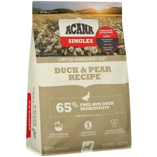 ACANA Singles Limited Ingredient Duck & Pear Grain-Free Dry Dog Food, 4.5-lb SKU 499271395