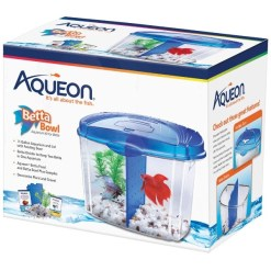 Aqueon Betta Bowl Kit, Blue SKU 1590501206