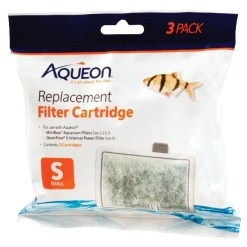 Aqueon QuietFlow Replacement Filter Cartridges, Small, 3 Pack SKU 1590506076