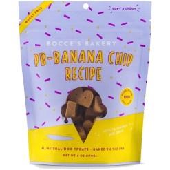 Bocce's Bakery PB-Banana Chip Recipe Dog Treats, 6-oz SKU 5715500773