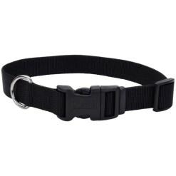 Coastal Adjustable Dog Collar with Plastic Buckle, Black, 12in SKU 7648404687