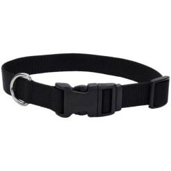 Coastal Adjustable Dog Collar with Plastic Buckle, Black, 20 in. SKU 7648404700