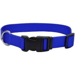 Coastal Adjustable Dog Collar with Plastic Buckle, Blue, 1 in X 26 in. SKU 7648404802
