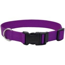 Coastal Adjustable Dog Collar with Plastic Buckle, Purple, 1 in X 26 in SKU 7648404820
