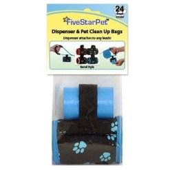 Five Star Pet Clean Up Bag Barrel Dispenser Paw Prints, Blue SKU 5791000105