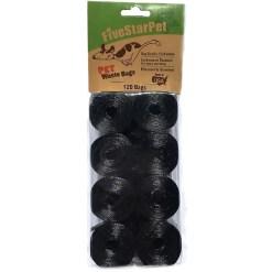 Five Star Pet Waste Bags, Black, 120 Count SKU 5791000146