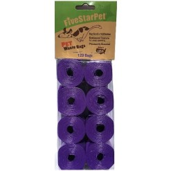 Five Star Pet Waste Bags, Purple, 120 Count SKU 5791000150