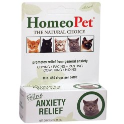 HomeoPet Anxiety Relief Supplement for Cats, 15-mL SKU 0495914731