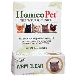 HomeoPet WRM Clear Supplement for Cats, 15-mL SKU 0495914730