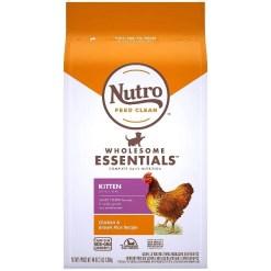 Nutro Wholesome Essentials Chicken & Brown Rice Recipe Kitten Dry Cat Food, 3-lb SKU 7910511742