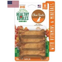 Nylabone Healthy Edibles Bacon Flavor Dog Bone Treats, X-Small, 8 Count SKU 1821482927