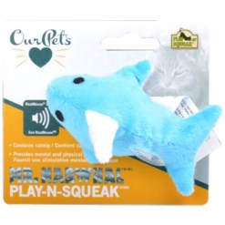 OurPets Play-N-Squeak Mr. Narwhal Cat Toy SKU 8082413896