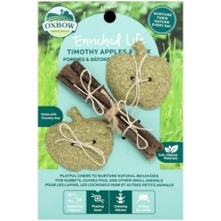 Oxbow Enriched Life Timothy Apples & Stix Small Animal Chew Toy SKU 4484596313