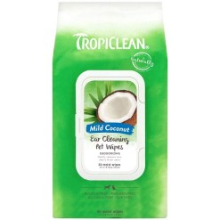 TropiClean Ear Cleaning Wipes for Dogs, 50 Count SKU 4509501011