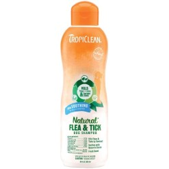 TropiClean Natural Flea & Tick Plus Soothing Dog Shampoo, 20-oz SKU 4509520254