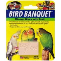 Zoo Med Bird Banquet Fruit Formula Mineral Block Supplement, 1-oz SKU 9761211810