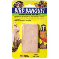 Zoo Med Bird Banquet Vegetable Formula Mineral Block Supplement, 5-oz SKU 9761211811