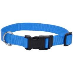 Coastal Adjustable Dog Collar with Plastic Buckle, Blue Lagoon SKU 7648473008