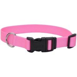 Coastal Adjustable Dog Collar with Plastic Buckle, Pink Bright, 14 in. SKU 7648464010