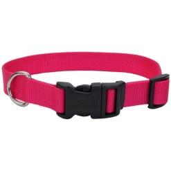 Coastal Adjustable Dog Collar with Plastic Buckle, Pink Flamingo SKU 7648473006