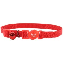 Coastal Safe Cat Adjustable Snag-Proof Breakaway Collar, Red SKU 7648455001