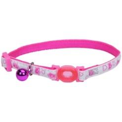 Coastal Safe Cat Glow in the Dark Adjustable Breakaway Collar, Pink Queen SKU 7648406759