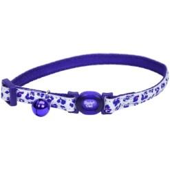 Coastal Safe Cat Glow in the Dark Adjustable Breakaway Collar, Purple Leopard SKU 7648406758